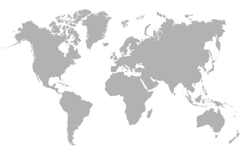 Carte différentes latitudes